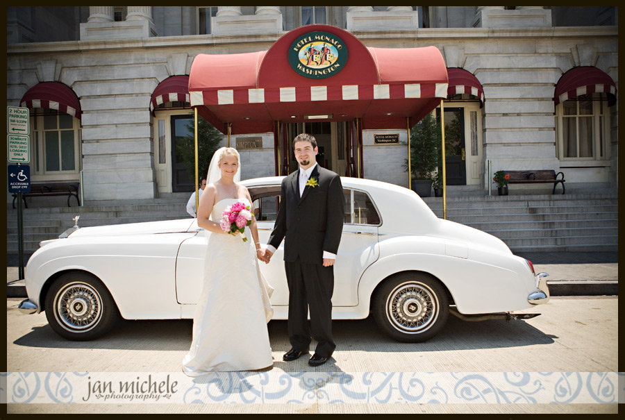 Boutique hotel dc wedding