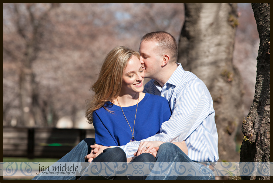 011 - cherry blossom engagement picture