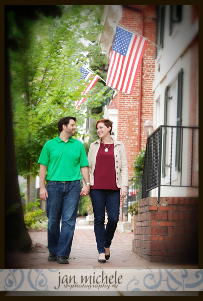 31 Old Town Alexandria Engagement Picture