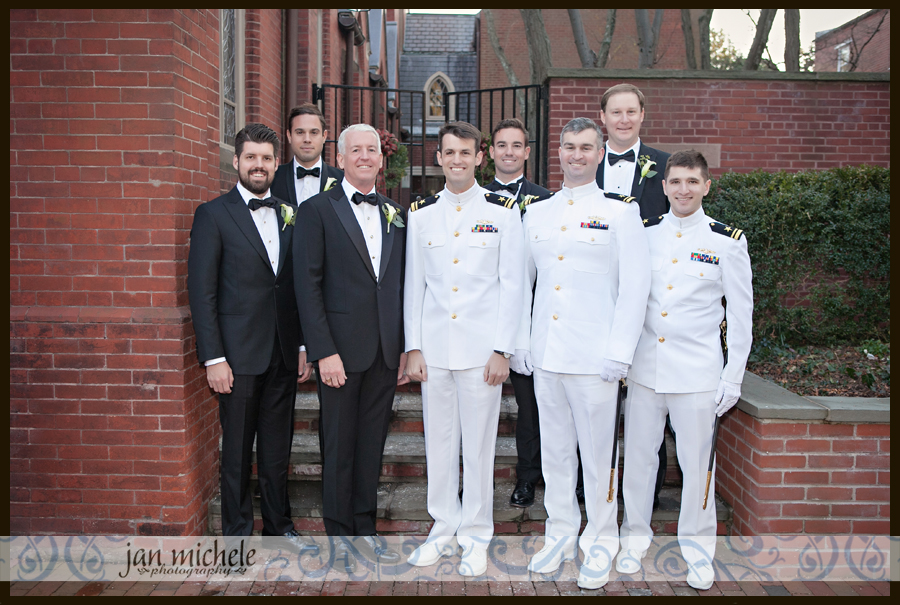 1087 Winter Army Navy Country Club Wedding Picture